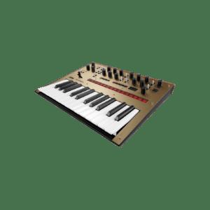 Korg Monologue Gold Synthesizer Syntheziser, digital synthesizer, analog synthesizer, novation summit, roland d-05, moog grandmother
