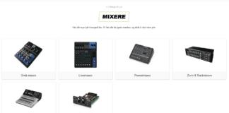 mixere - digital mixer og analog mixer