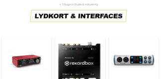 thunderbolt interface lydkort og kabler