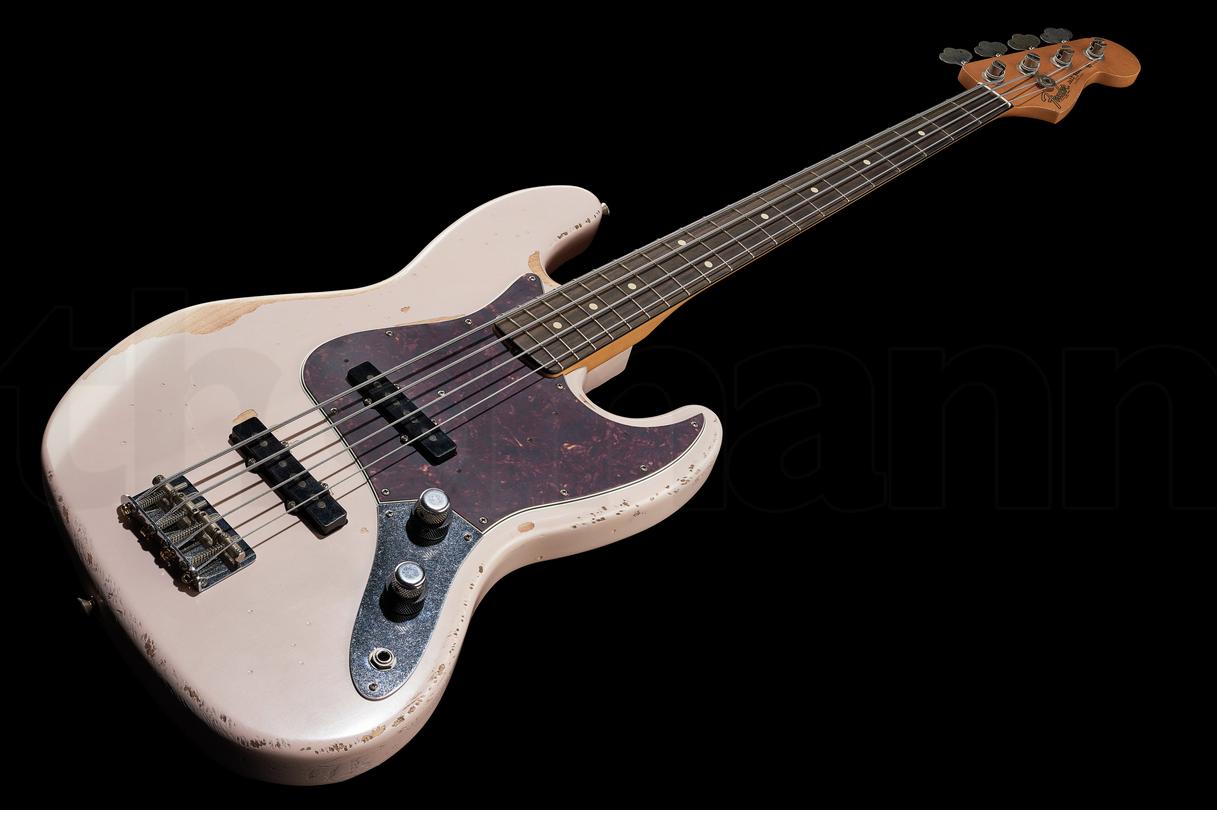 Fender Flea Jazz Bass RW Roadworn Shell Pink