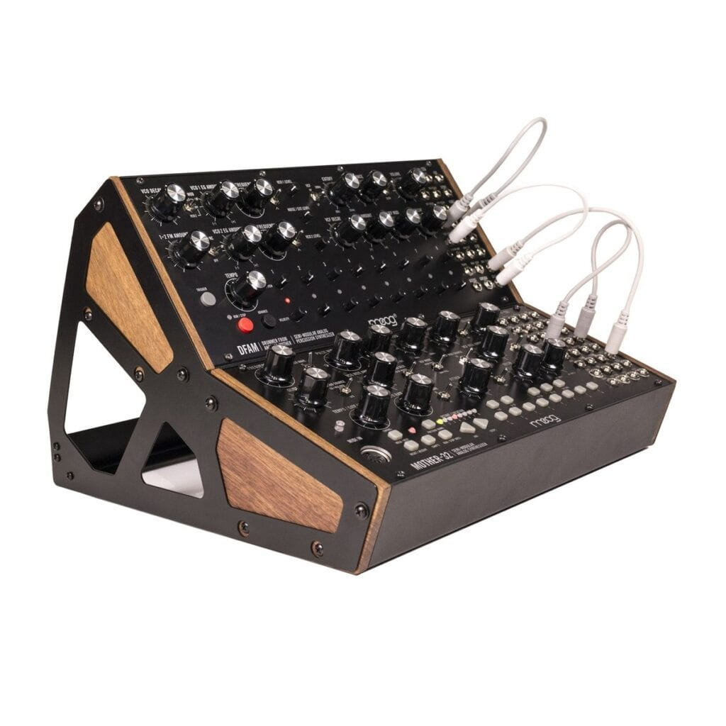 Moog DFAM & Moog Mother 32 With Moog 2-Tier Case Bundle