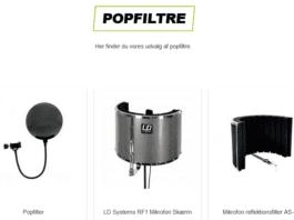 popfilter til mikrofon