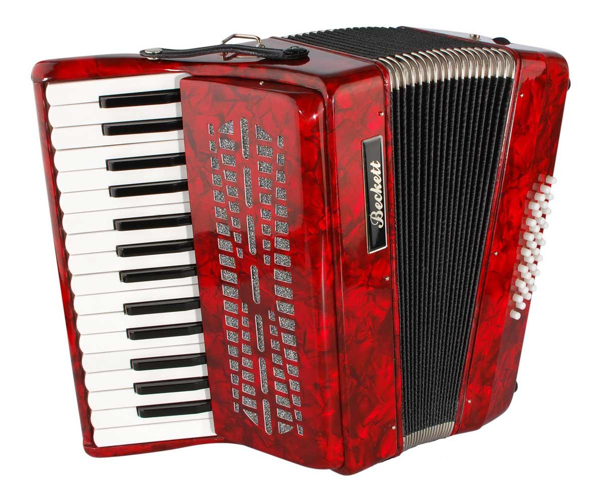 Beckett JH2002 piano harmonika rød | 4SOUND.DK