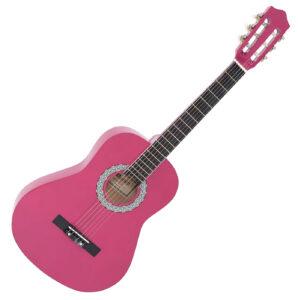klassisk spansk guitar pink