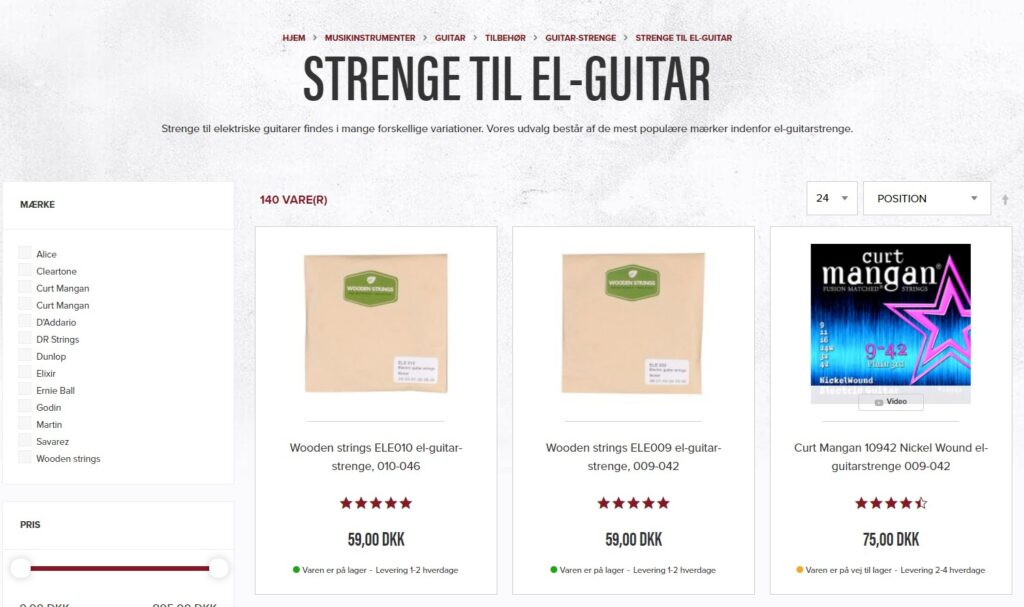 guitar strenge el-guitar