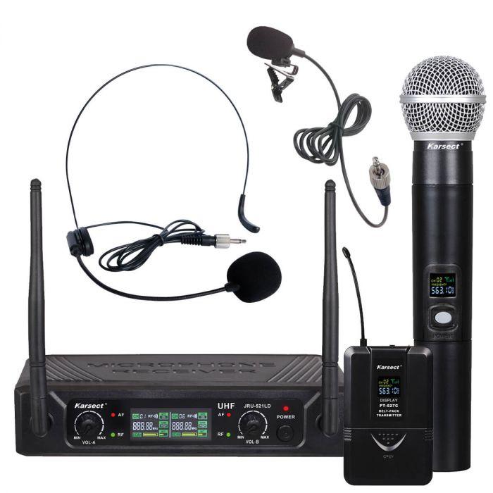 trådløs mikrofon karsect dobbelt