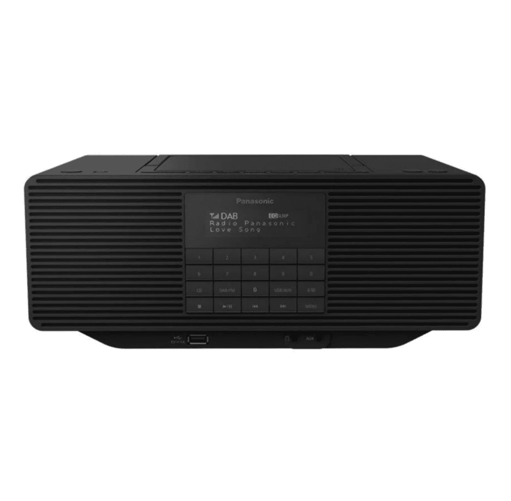 Panasonic Bærbar radio -RX-D70BT - DAB portable radio - CD USB-host Bluetooth - Stereo - Sort forfra