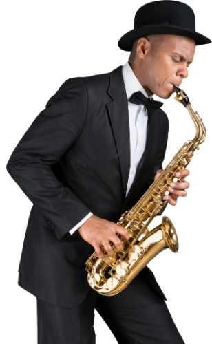 Anerkendt dansk viral saxofonist der blæser i sin saxofon