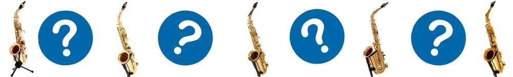 spørgsmålstegn og en guide til begynder saxofon
