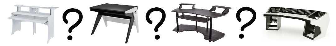 Billede af studieborde og spørgsmålstegn
