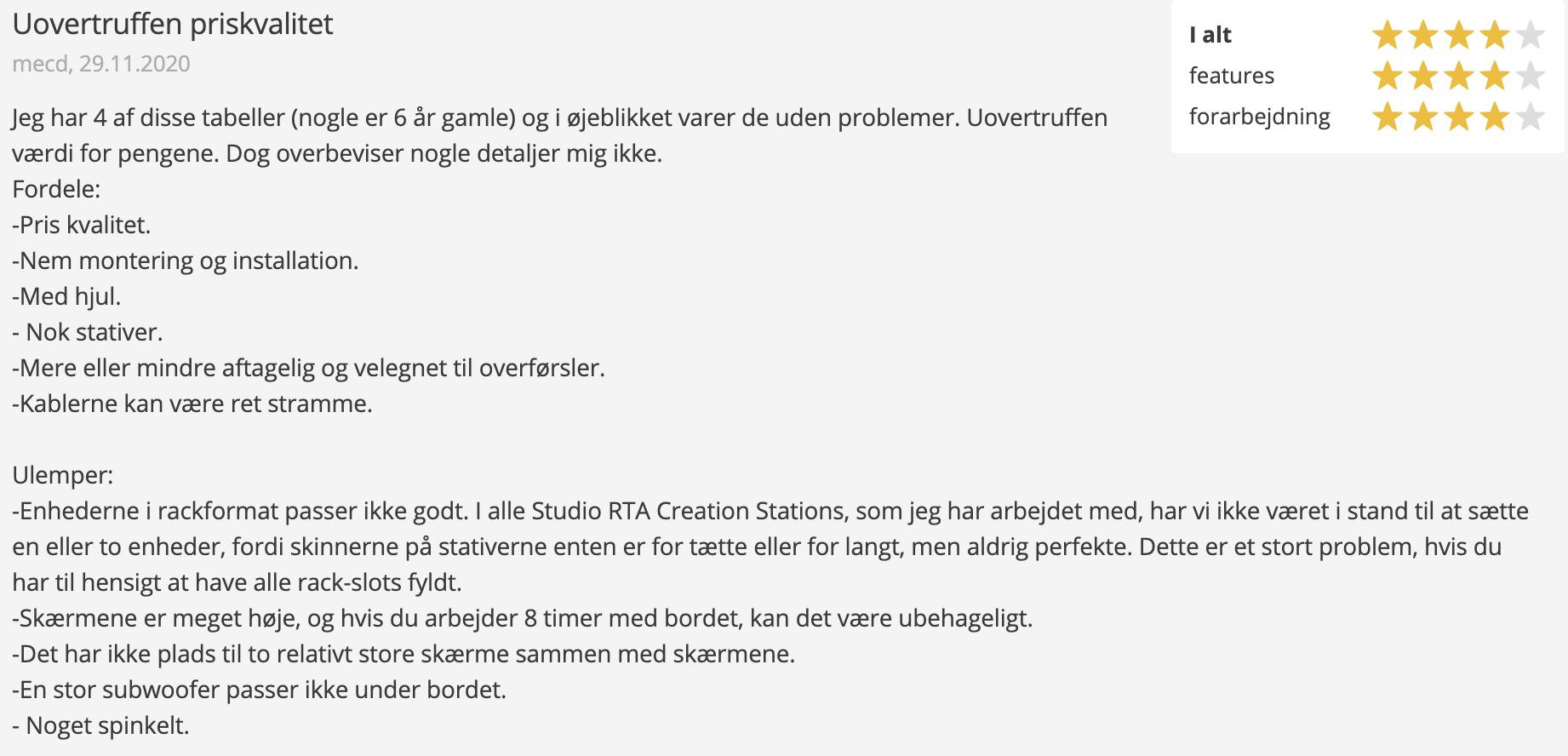 Anmeldelse af StudioRTA Creation Station fra Thomann