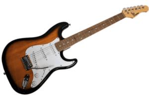 Beaton Legend SB el-guitar sunburst som blev vores bedste i test