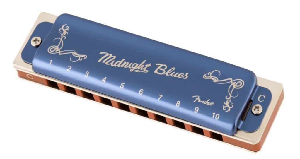Fender Midnight Blues Harmonica in C set forfra