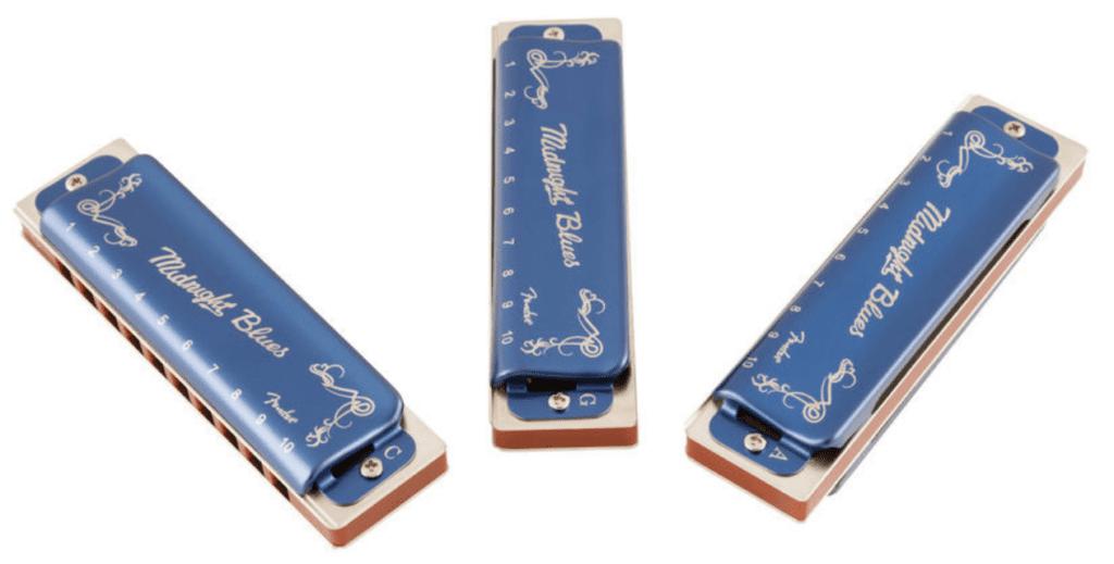 Fender Midnight Blues 3 Pack set oppefra