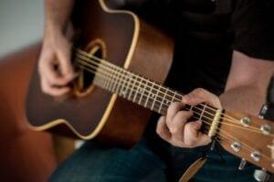 Billede af renlige guitarstrenge