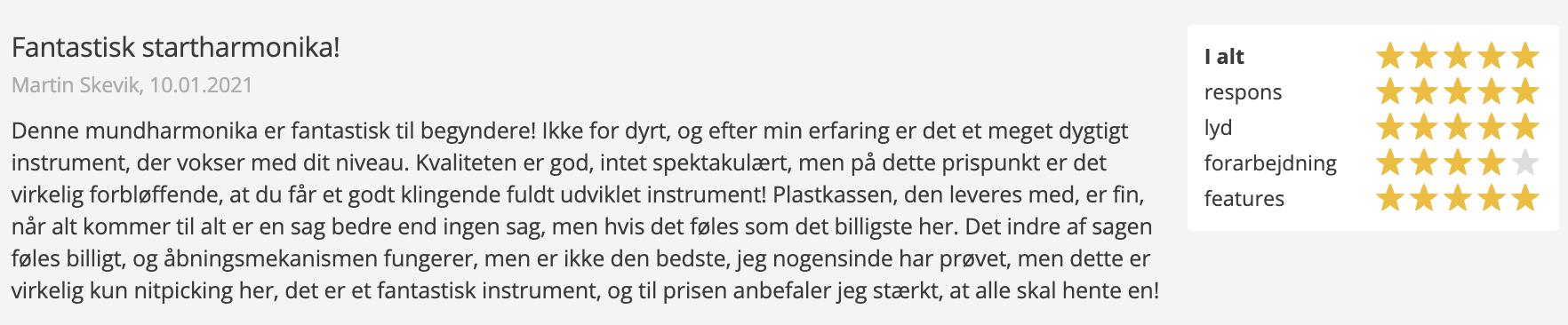 Anmeldelse af Hohner mundharmonika fra Thomann