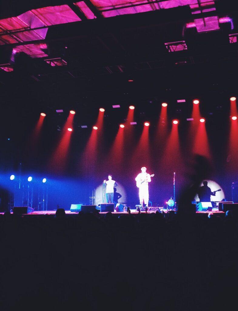 Koncert med in-ear monitors