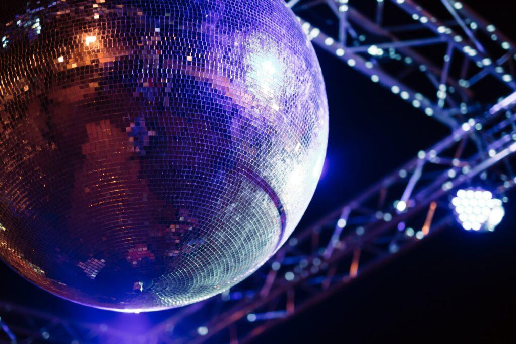 Disco ball party concept