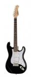 Billede af el-guitaren set forfra